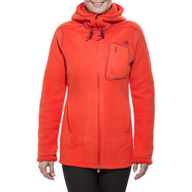 adidas ED Teddy Hoody Damen bold orange/solid grey f11/black
